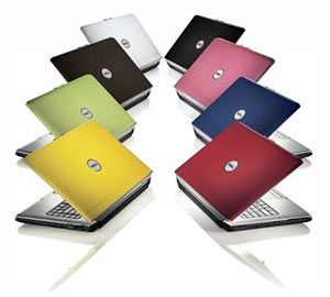 A range of Dell laptops