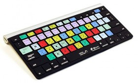 A colorful QWERTY keyboard