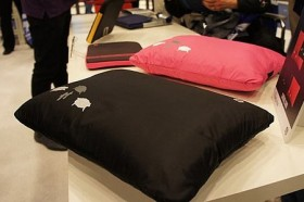 Naptop: a laptop case with a pillow