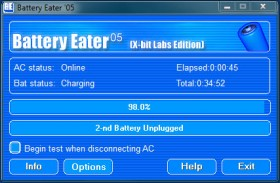 Battery Eater: Laptop Battery's Benchmark