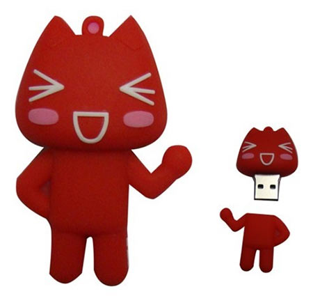 Cute red cat USB drive. They also had yellow ones.