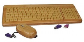 Wooden keyboard + mouse combo: $17.50