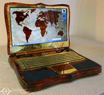 Datamancer Victorian Steampunk Laptop