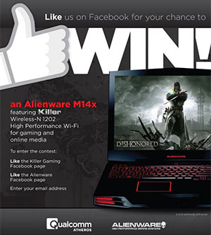 Win an Alienware M14x laptop (ARV: $1700)