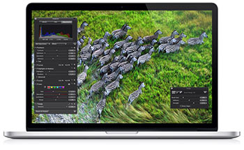 MacBook Pro with a retina display